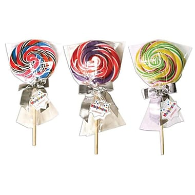 Adam & Brooks Whirly Bration Pops Assorted 4in.dia 9.75in. hi, 4.5 oz., 12 Pops/Order