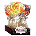 Adam & Brooks Whirly Bration Large Assorted Flavor Pops - disp 4in. dia 9.75in. hi, 4.5 oz., 18 Pops/Order