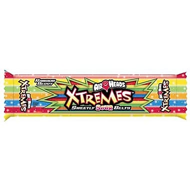 Airheads Xtremes Rainbow Belts tray, 2 oz., 18 trays/Order