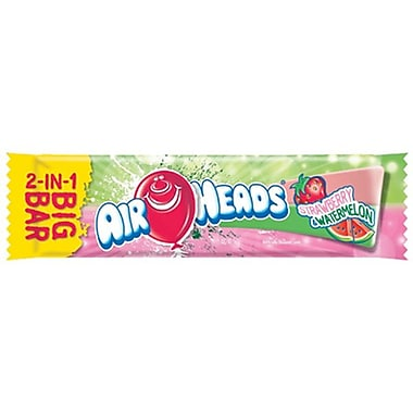 Airheads Strawberry / Watermelon 2 in 1 Big bar, 1.5 oz., 24 Bars/Order