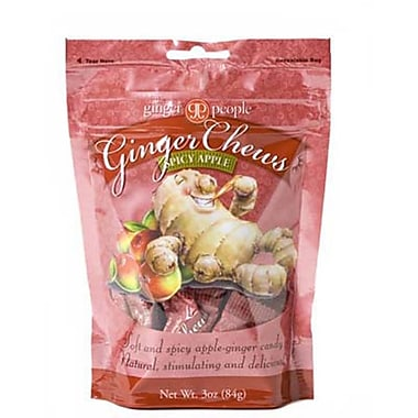 The Ginger People Spicy Apple Ginger Chews, 3 oz., 24 Bags/Order