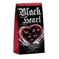 Marich Black Hearts Black Cherry Licorice Tent Box, 5.3 oz. 12 Tent Boxes/Order
