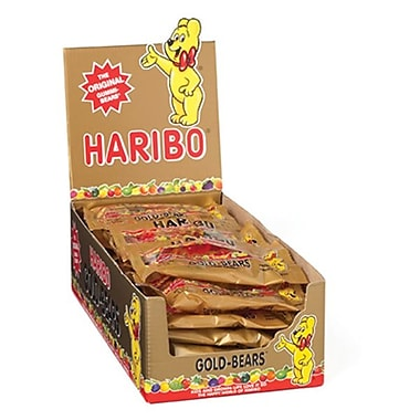 Haribo Gold Gummi Bears in Peg Bag, 2 oz., 24 Packs/Order