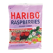 Haribo Raspberries, 5 oz. Peg Bag/12 Packs/Order