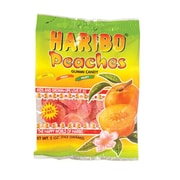 Haribo Gummi Peaches, 5 oz. Peg Bag/12 Packs/Order