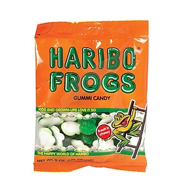 Haribo Gummi Frogs, 5 oz. Peg Bag/12 Packs/Order
