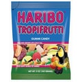 Haribo Tropifrutti Gummi Candy, 5 oz. Peg Bag/12 Packs/Order