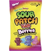 Cadbury Adams Sour Patch Kids Berries, 7.2 oz. Peg Bag, 12 Packs/Order