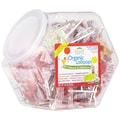 Organic Fruit Lollipops, 125-piece Jar