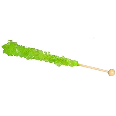 Light Green Rock Candy Sticks, 36-piece tub