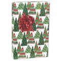 Tree Gnomes Gift Wrap, White/Red/Green, 24in. x 417'