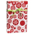 Snowflake Dots Gift Wrap, Red/White, 24in. x 417'