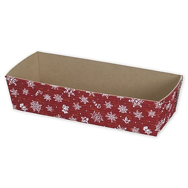 Snowflake Loaf Baking Pan, Red, 6 9/10in. x 2 1/2in.