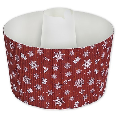 Large Snowflake Cake Baking Pan, Red, 5 9/10in. x 3 9/10in.