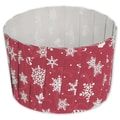 Snowflake Pleated Baking Cups, Red, 2 3/5in. x 2in.