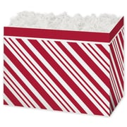 "Corrugated Paperboard 7.5""H x 6""W x 10.25""L Gift Boxes, Red, 6/Pack"
