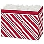Peppermint Gift Basket Box, Red, 6 3/4 x