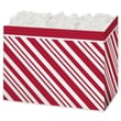Peppermint Gift Basket Box, Red, 6 3/4in. x 4in. x 5in.