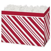 Peppermint Gift Basket Box, Red, 6 3/4 x 4 x 5