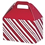 Peppermint Gable Box, Red, 8 1/2 x 5