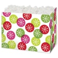 Festive Dots Gift Basket Box, Green, 6 3/4in. x 4in. x 5in.