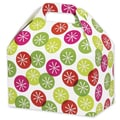 Festive Dots Gable Box, Green, 8 1/2in. x 5in. x 5 1/2in.