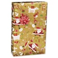 Retro Santa Gift Wrap, Red/White/Gold, 30in. x 417'