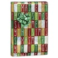 Christmas Box Gift Wrap, Silver/Red/Green, 30in. x 208'