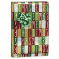 Christmas Box Gift Wrap, Silver/Red/Green, 30in. x 417'