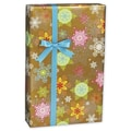 Sunset Snowflake Gift Wrap, Red/Orange/Gold, 30in. x 208'