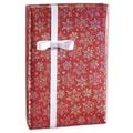 Sparkleflake Red Gift Wrap, Silver/Red, 30in. x 417'