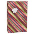 Cheerful Stripe Gift Wrap, Pink/Green/Blue, 30in. x 417'