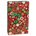 Ornamental Splash Gift Wrap, White/Red/Green, 30in. x 417'