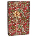 Holly Paisley Gift Wrap, White/Red/Green, 30in. x 417'