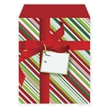 Small Christmas Stripe Mailer With 2in. Flap, 7in. x 10in.