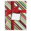 Large Christmas Stripe Mailer With 2 1/4in. Flap, 12in. x 16in.