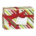 Small Christmas Stripe Mailing Box, 9 1/2in. x 4in.