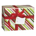 Medium Christmas Stripe Mailing Box, 12in. x 6in.