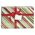 Large Christmas Stripe Mailing Box, 18in. x 3in.