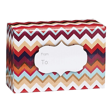 Small Chevron Sunset Mailing Box, 9 1/2in. x 4in.