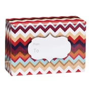 Small Chevron Sunset Mailing Box, 9 1/2 x 4