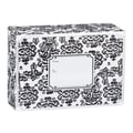Small Damask Mailing Box, Black, 9 1/2in. x 4in.