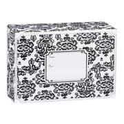 Small Damask Mailing Box, Black, 9 1/2 x 4
