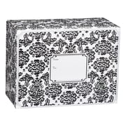 Medium Damask Mailing Box, Black, 12 x 6