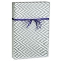Chevron Gift Wrap, White/Silver, 30in. x 417'