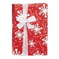 Christmas Gale Gift Wrap, White/Red, 30in. x 100'