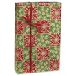 Snowfall Gift Wrap, Green/Red/Gold, 30in. x 100'