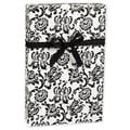 Damask Gift Wrap, Black/White, 30in. x 417'