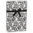 "Damask Gift Wrap, Black/White, 30"" x 417'"