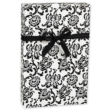 Damask Gift Wrap, Black/White, 30